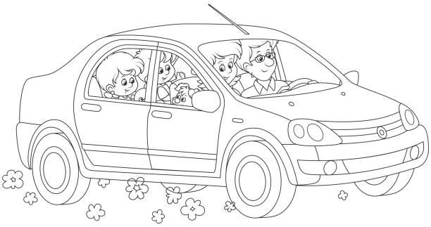Cars Ausmalbilder Vektorgrafiken Und Illustrationen Istock