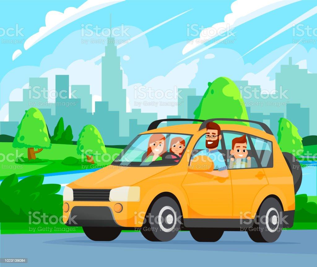 Famille De Road Trip Hehe Voyageant En Voiture Pere Mere Fils Et Fille Un Voyage A La Campagne Voyager En Voiture Vecteurs Libres De Droits Et Plus D Images Vectorielles De Conduire