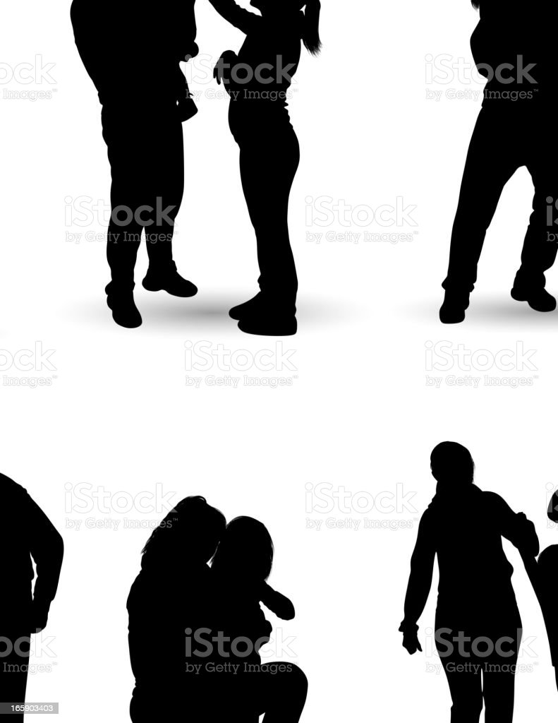Family Silhouette royalty-free family silhouette stock vector art & more images of adult