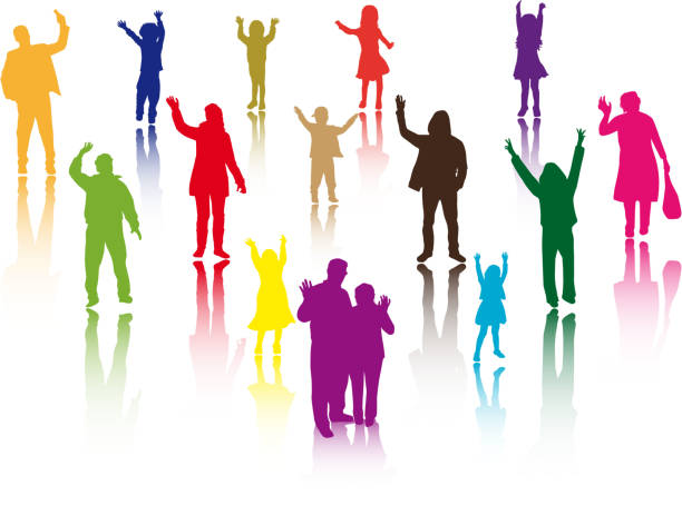 Group Of People Waving Goodbye Clipart