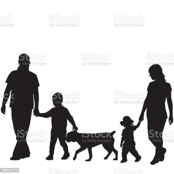 Family silhouettes with two children and dog vector id666546114?b=1&k=6&m=666546114&s=612x612&h=opklfmohcx4wfygadnl5ppilrsktakisywalcvomxqs=