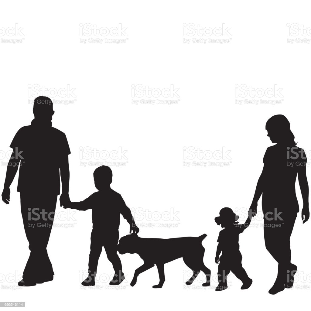 royalty free family with dog clip art vector images illustrations rh istockphoto com