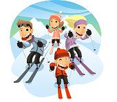 istock Family Skiing 520975849
