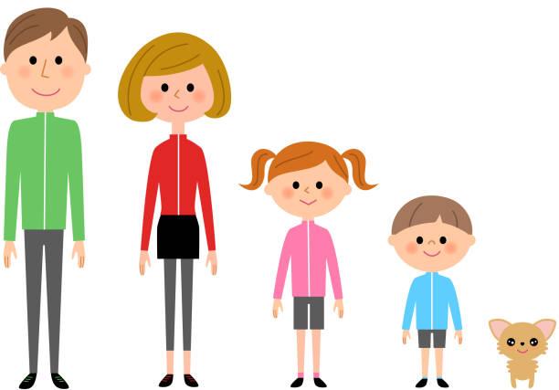家族、スポーツウェア - 夫婦点のイラスト素材/クリップアート素材/マンガ素材/アイコン素材
