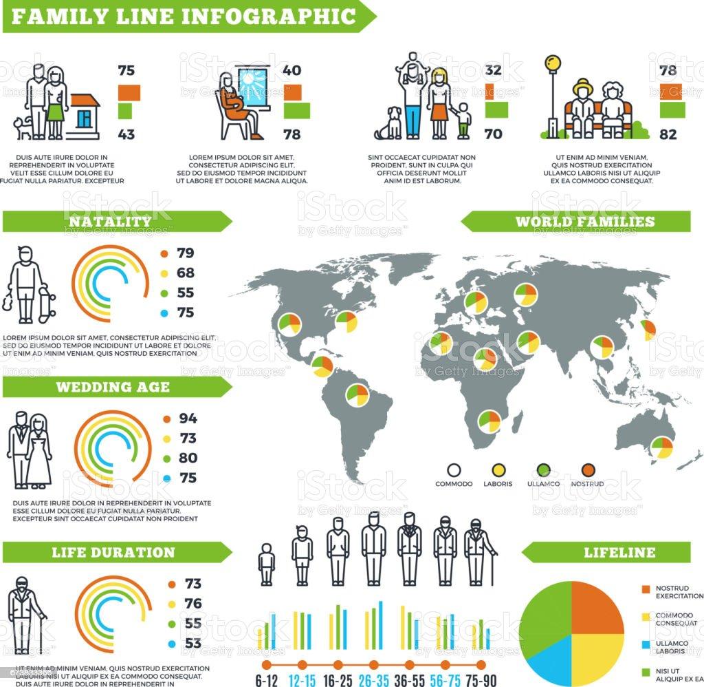 Statistiques familiales vector infographie avec les diagrammes graphiques et de la démographie de population statistiques familiales vector infographie avec les diagrammes graphiques et de la démographie de population – cliparts vectoriels et plus d'images de affaires libre de droits
