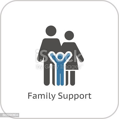 istock Family Support Icon. Flat Design. 502090804