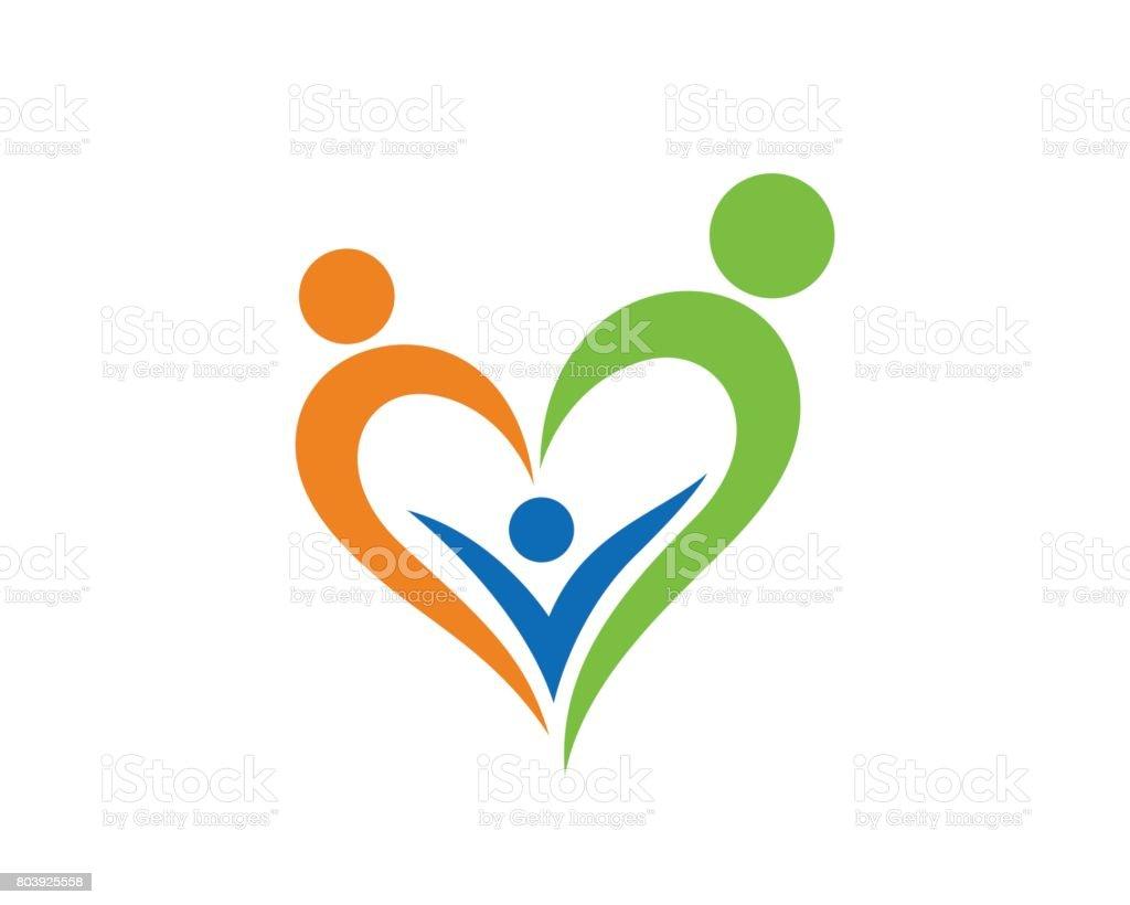 Family Symbol Template Design Vector Emblem Design Concept Creative