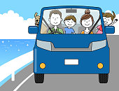 It is an illustration of my family going out by car.