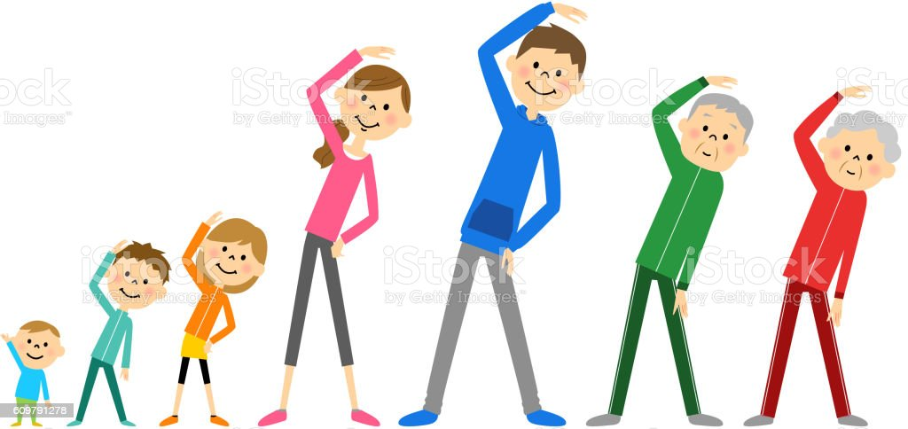 Family To Prepare Exercise Stock Illustration - Download Image Now - iStock