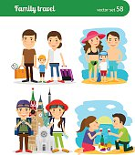 Family travel people