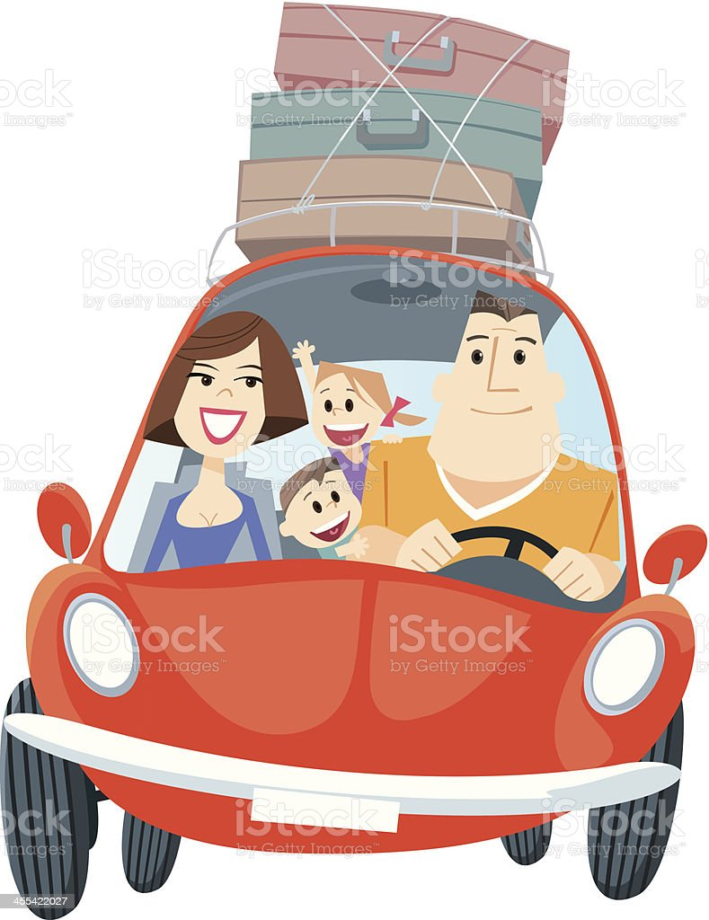 Family travel royalty-free family travel stock vector art & more images of car