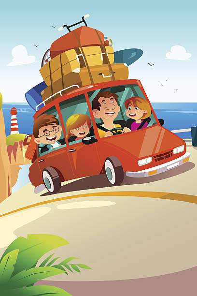 Family Road Trip Illustrations, Royalty-Free Vector ...
