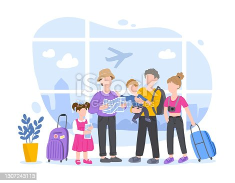 istock Family Traveling on Vacation, People Travel 1307243113