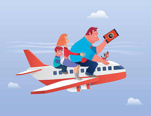 family traveling - family trips stock illustrations