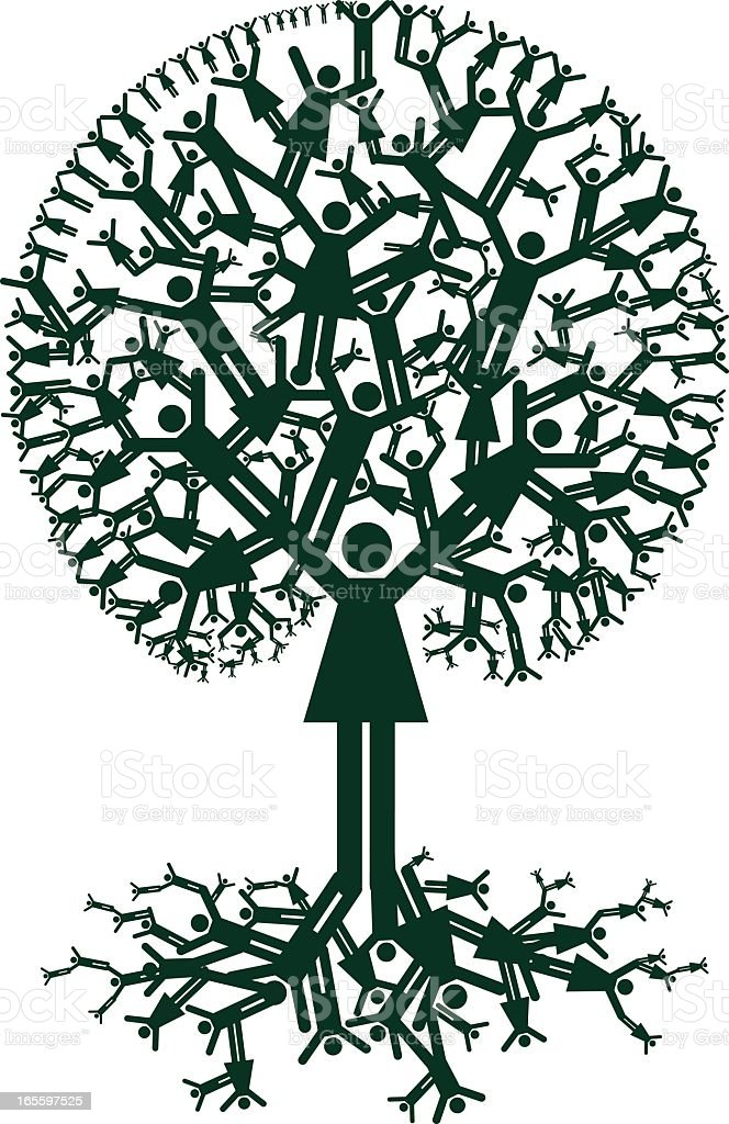 Family Tree Ancestry royalty-free stock vector art