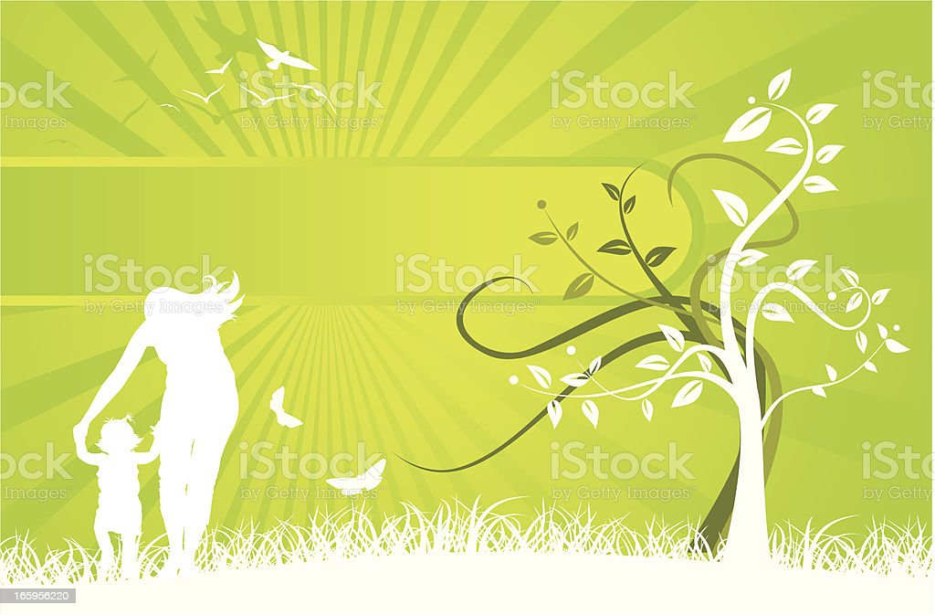 Family Tree Banner royalty-free stock vector art