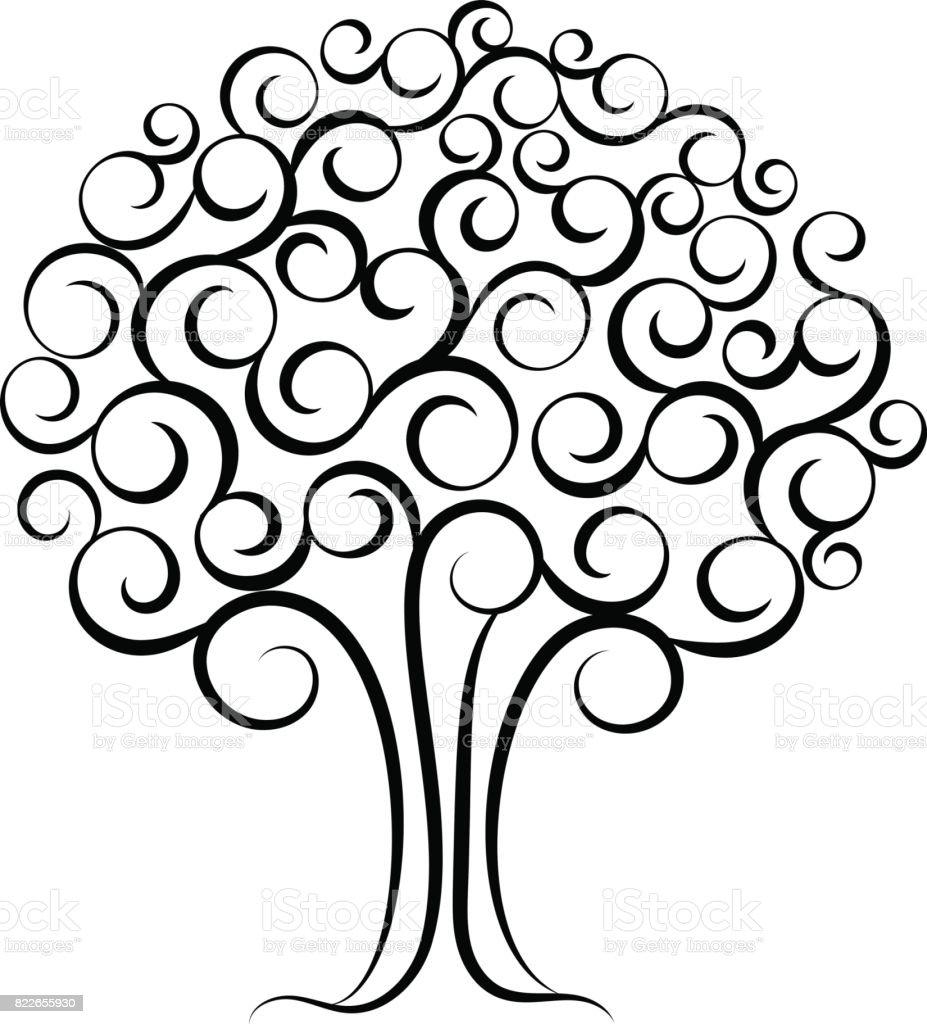 family tree for wedding invitation design vector illustration for