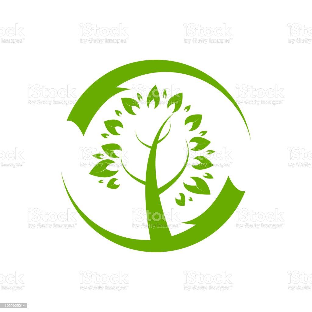 家系図のロゴのテンプレート ベクトル アイコン イラスト デザイン