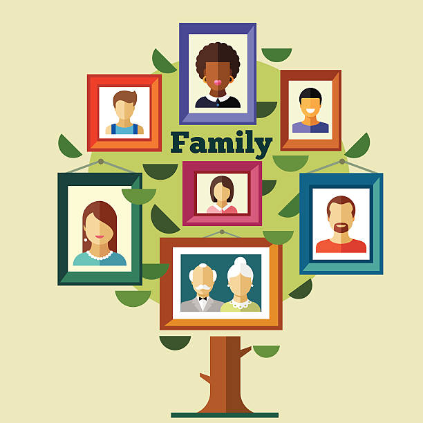 family tree, relationships and traditions - old man pic cartoons stock illustrations, clip art, cartoons, & icons