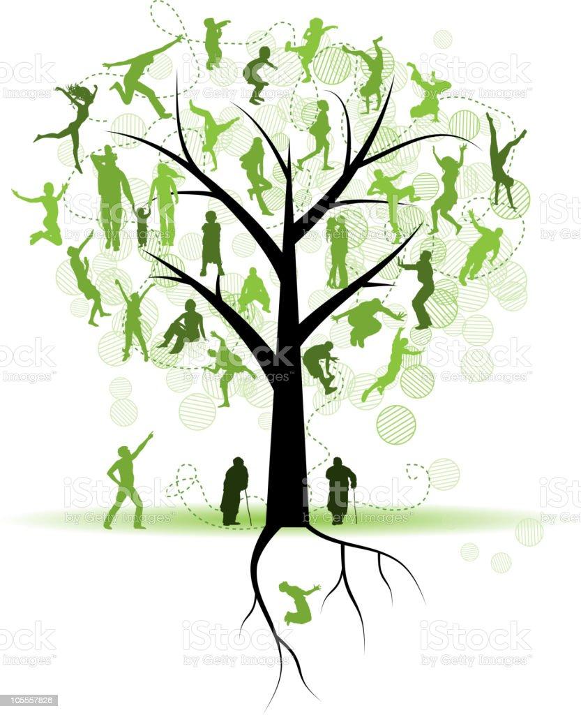 Árbol genealógico, familiares - ilustración de arte vectorial