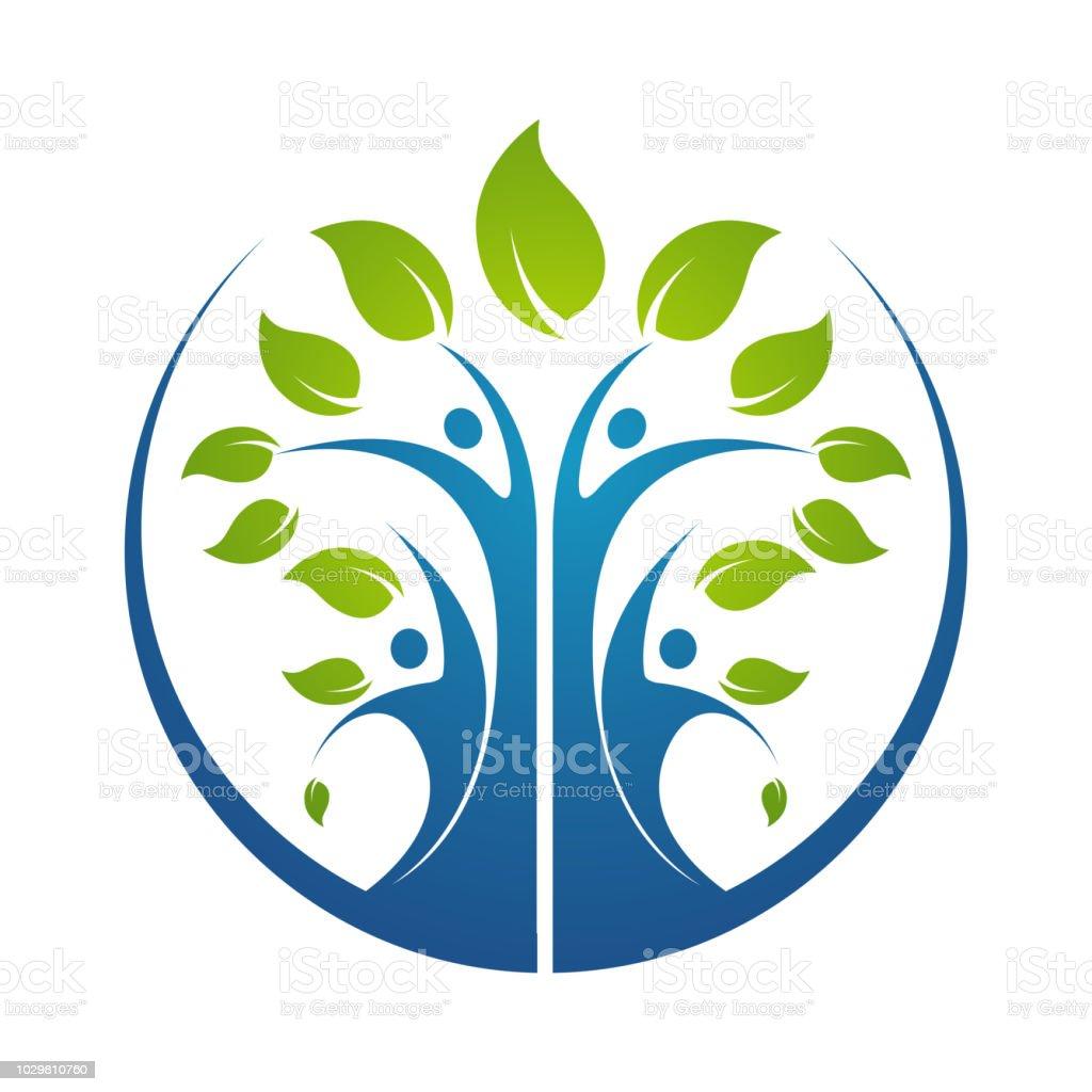 家系図シンボル アイコン ロゴ デザイン テンプレート イラスト