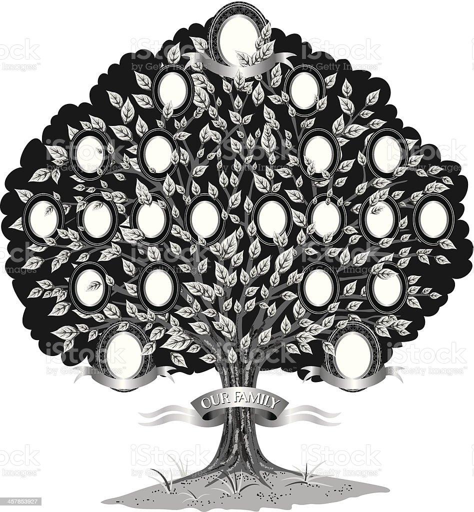 Ilustración de Plantilla De árbol Familiar y más banco de imágenes ...