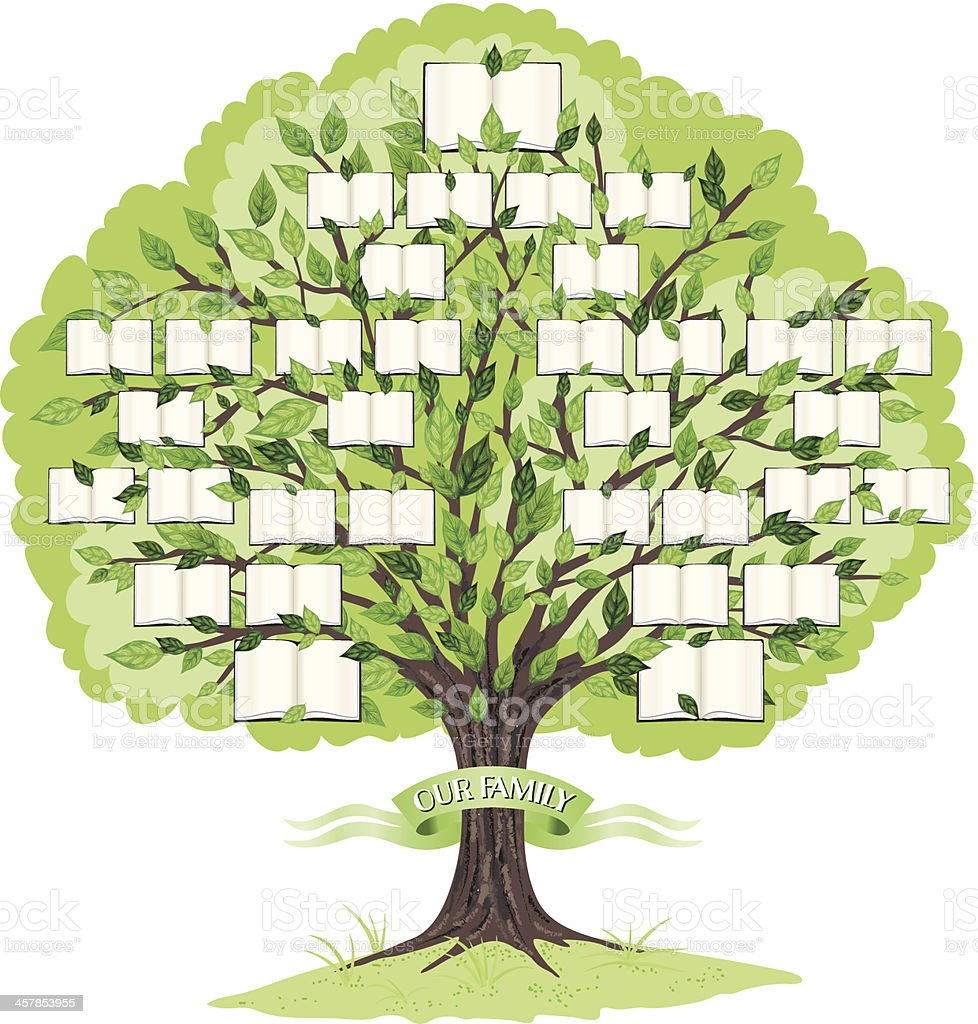 royalty free family tree clip art vector images illustrations rh istockphoto com Blank Family Tree Family Tree Template