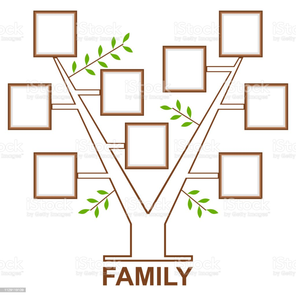 Family Tree Template For Pictures from media.istockphoto.com