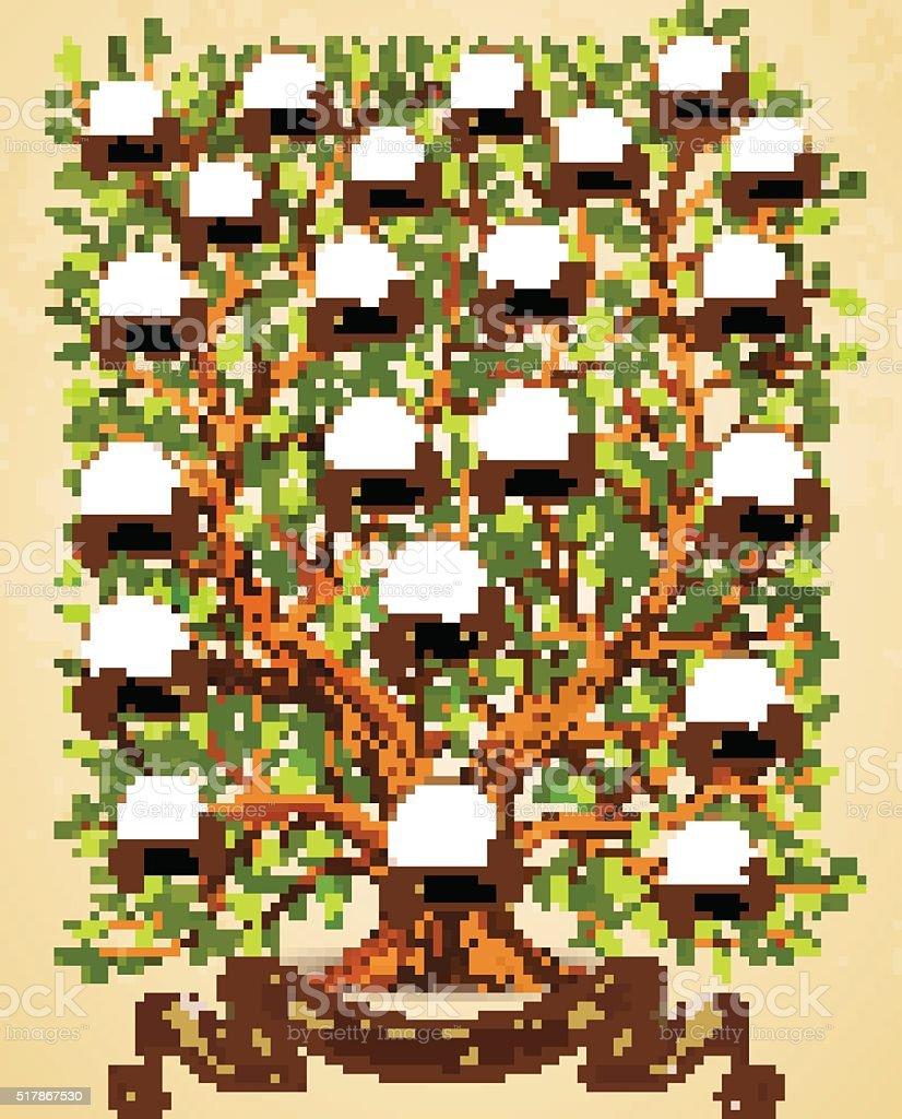 Ilustración de Árbol De La Familia Plantilla De Ilustración De ...