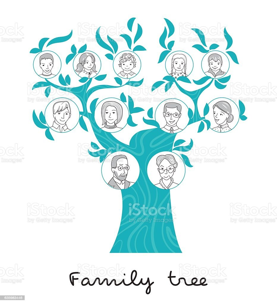 Family tree thin line style vector family tree thin line style vector vecteurs libres de droits et plus d'images vectorielles de adulte libre de droits