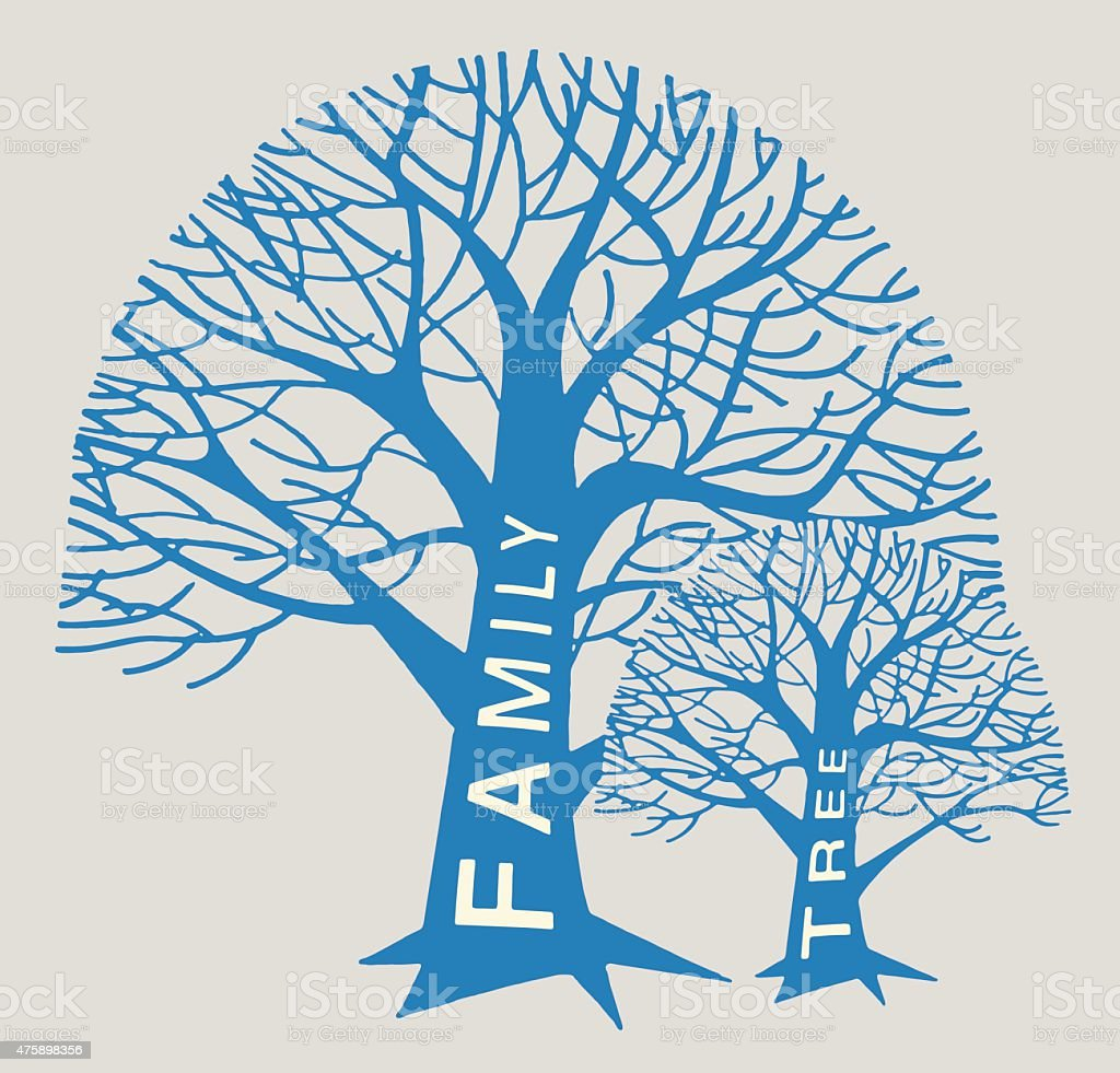 Family Tree Trees vector art illustration