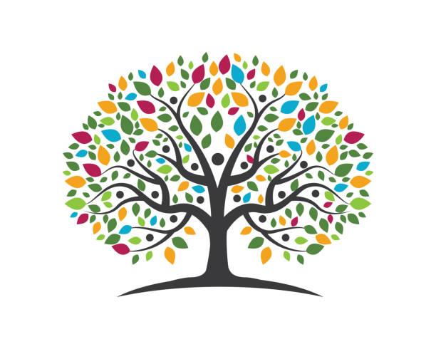 illustrations, cliparts, dessins animés et icônes de conception d'arbre généalogique vector icon - arbres généalogiques