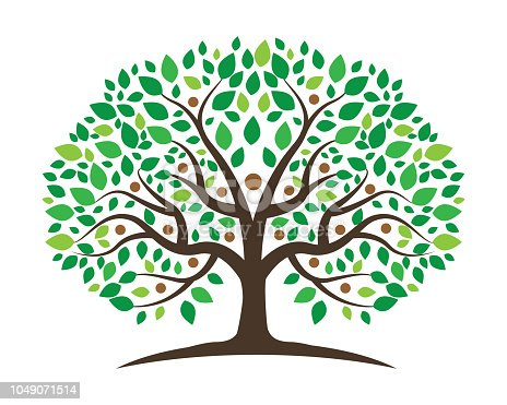 Family Tree Logo template vector icon design