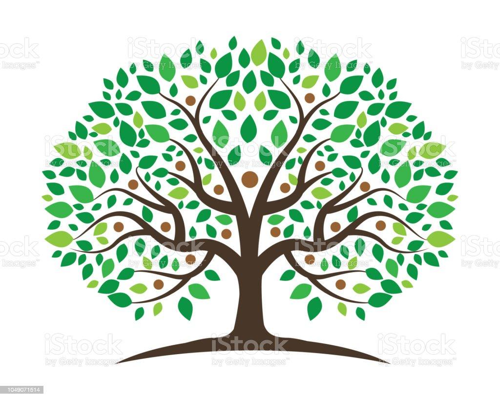 Family Tree vector icon design vector art illustration