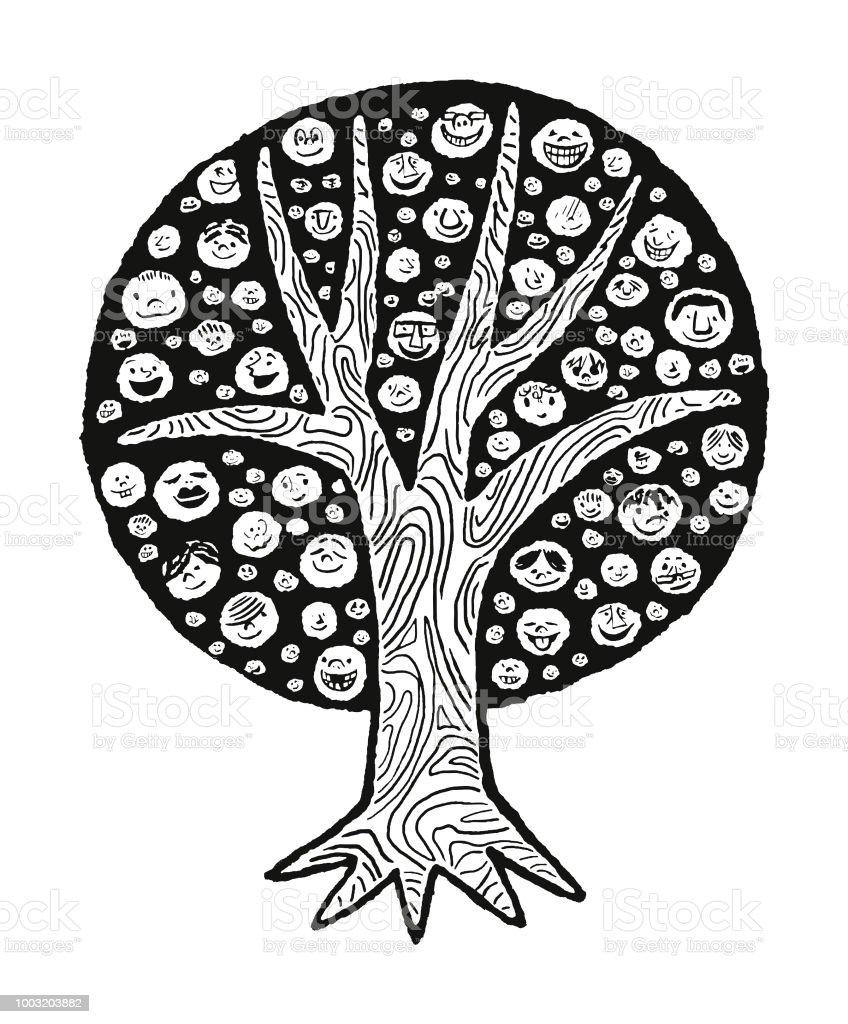 Ilustración De árbol Genealógico Y Más Banco De Imágenes De Arte Pop