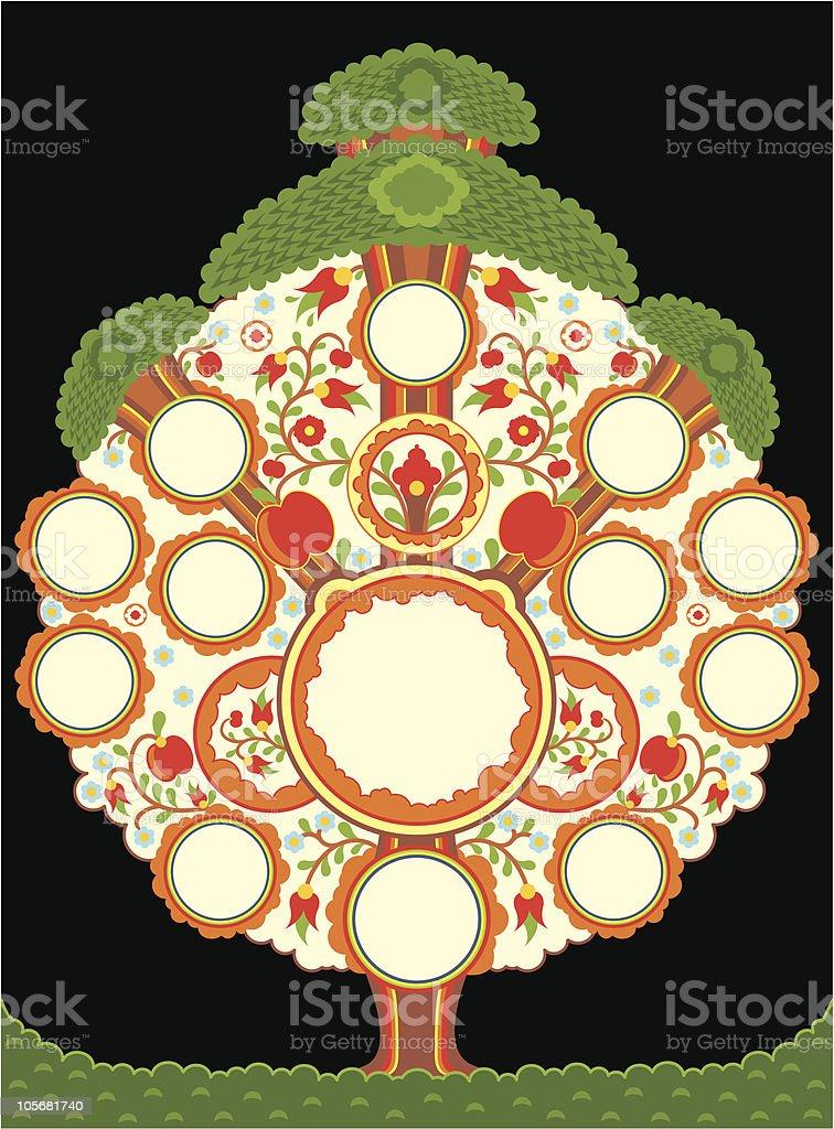 family tree royalty-free stock vector art