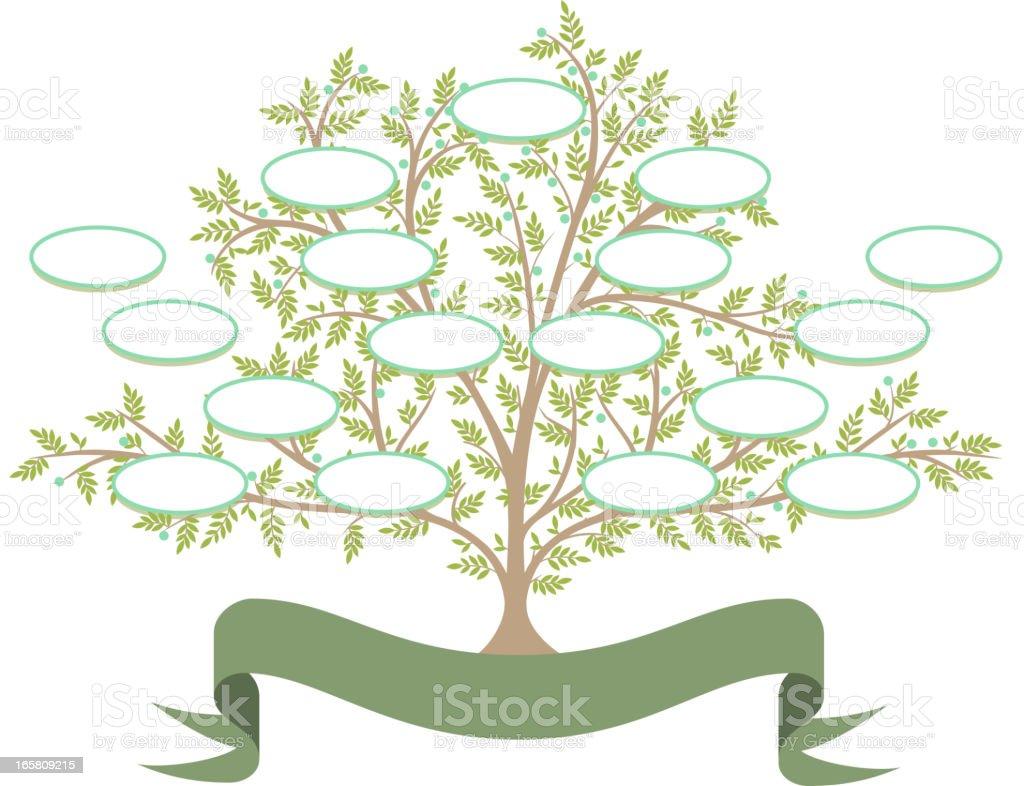 Árbol genealógico - ilustración de arte vectorial