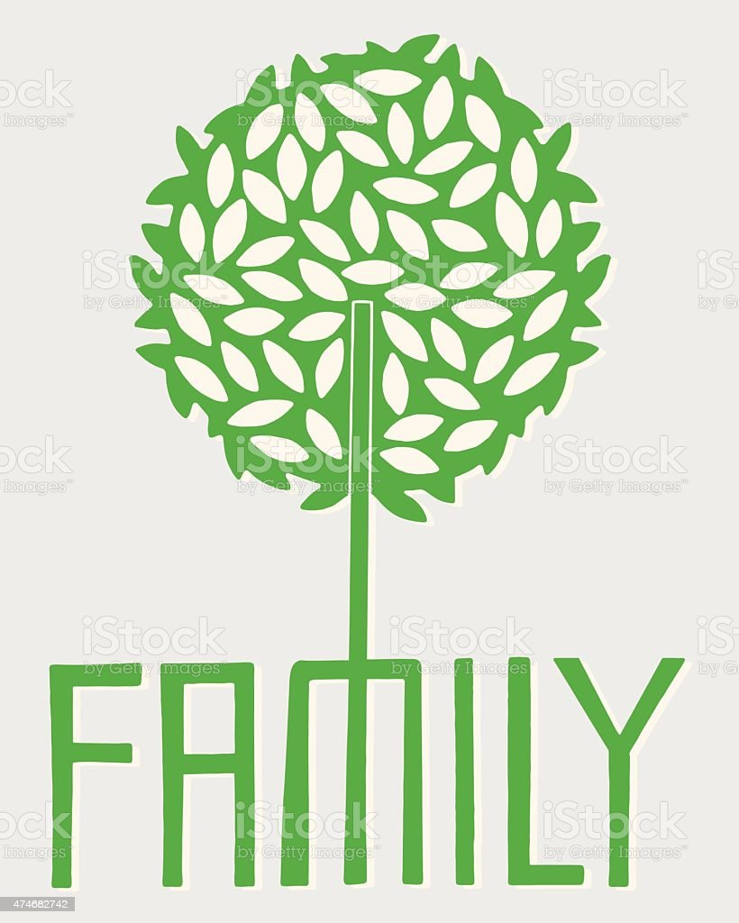 Family Tree vector art illustration