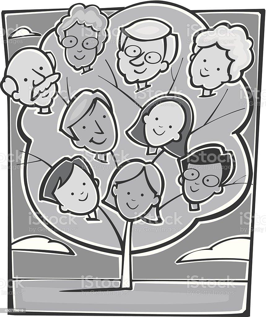Ilustración De árbol Genealógico Y Más Banco De Imágenes De 2011
