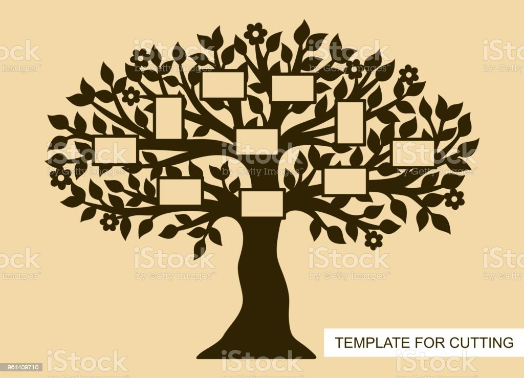 Family tree with photo frames. - Royalty-free Branch - Plant Part stock vector