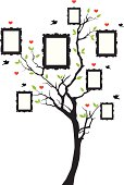 family tree with picture frames