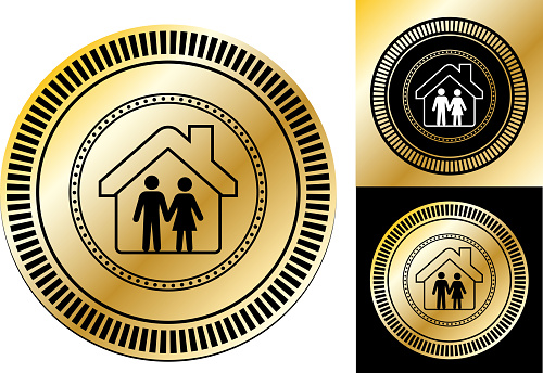 Family Under a House Roof Icon