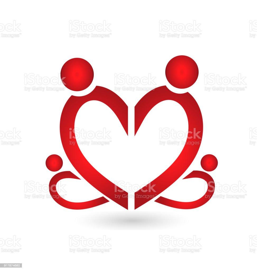 Ilustración De Icono De Símbolo Del Corazón De Amor De Unión