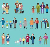 Vectored families. Based on 1970s AIGA icon designed for the US Department of Transport. This format can be blown up to any size without loss of quality.