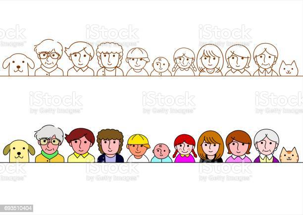Family upper body border set vector id693510404?b=1&k=6&m=693510404&s=612x612&h=y24tpjhimhz yysdaw3oufnerlah4phiglzcuedkfp8=