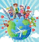 vector illustration - Family Vacation