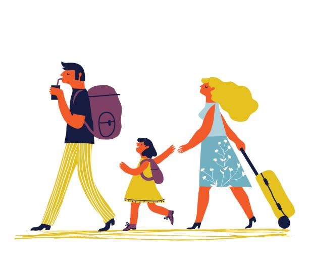 Familie-urlaub – Vektorgrafik