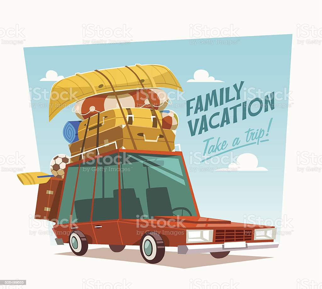 Vacances en famille.  illustration vectorielle. - Illustration vectorielle