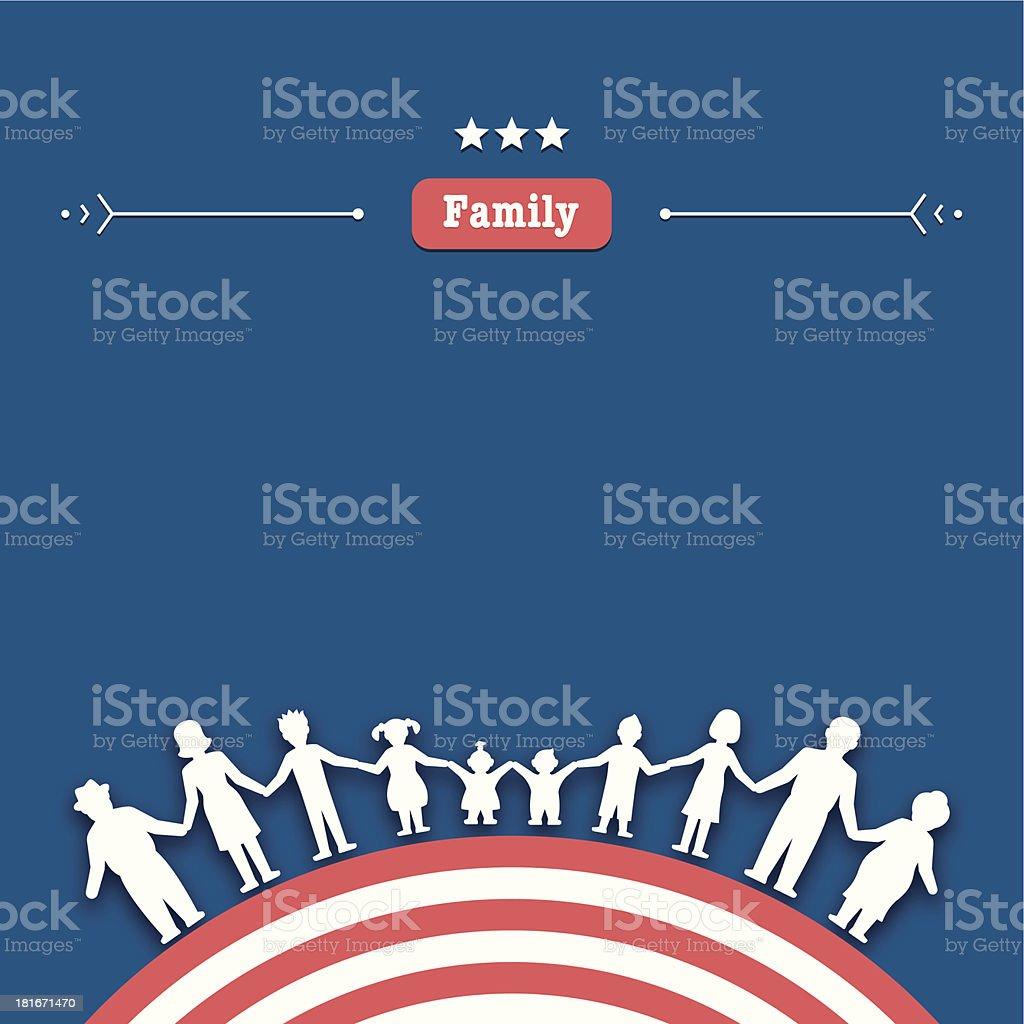 Family values royalty-free stock vector art