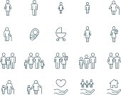 Family vector icons